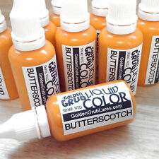 NEW 1 OZ. BUTTERSCOTCH Liquid Color Dye Fishing Soft Plastic Bait plastisol bass