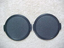 2 NEW 62MM BLACK PLASTIC SNAP-IN FRONT LENS CAPS