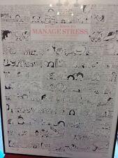 "Paul Palnik, Cartoonist, Limited, Signed, Humor on Stress Management 1984 38""x22"