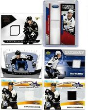 BRAD RICHARDS LOT OF (6) DIFFERENT AUTHENTIC GAME USED JERSEY CARDS