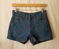 Cotton Blend Patternless High Waist Shorts for Women