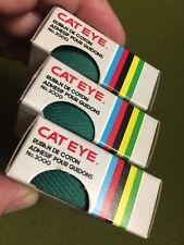 NOS Vintage CAT EYE No. 3000 COTTON HANDLEBAR TAPE Green RUBAN POUR GUIDONS