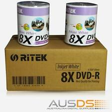 600 X Ritek DVD blank disc media - Printable DVD-R discs matt - 8X burn