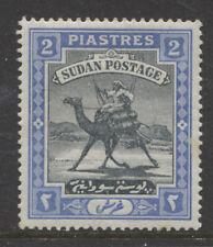 SUDAN -1898 CAMEL POSTMAN 2pi BLACK & BLUE MINT SG.15. (REF.C4)