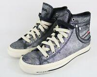 Diesel Exposure 5 Damen Women Sneaker Schuhe Leder Leather Silber Wählbar