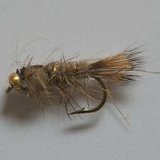 24 Gold BH Nymphs Trout Fly Fishing Flies by Dragonflies 6 patterns in 4 sizes