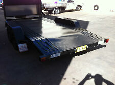 BRAND NEW 14FT TANDEM AXLE TOY HAULER CAR TRANSPORTER TRAILER PERFORATED FLOOR
