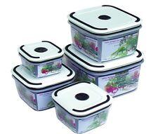 Set 5 boites de conservation en plastique