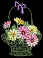 Daisy Delights Floral Machine Embroidery Designs CD 4x4 Brother Janome Singer