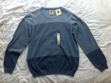 Para Hombre Grande Azul Haggar Heritage Collection Suéter/Jersey de cuello redondo