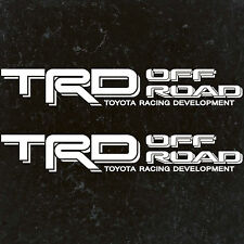"""TOYOTA TACOMA TRD OFF ROAD DECALS STICKERS (2) 18""""X3"""" DECALS WHITE"""