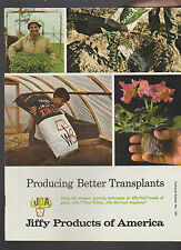 Jiffy Products of America Catalog Producing Better Transplants 1970s
