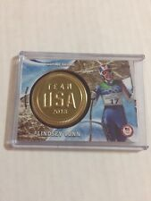 2018 Topps Winter Olympics Lindsey Vonn Gold Medal Insignia /25