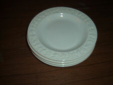 Lot of 4 Wedgwood Embossed Queen's Ware Cream 6 inch bread salad dessert plates