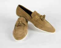 New SUTOR MANTELLASSI Brown Suede Leather Tassel Loafers Shoes Size 11 US $750