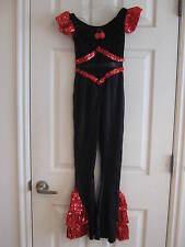 NEW Snazzy Black & Red Jazz Unitard Dance Costume - Child size Medium
