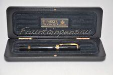 Parker Duofold International Black Fountain Pen NEW IN BOX