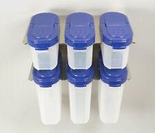 Tupperware Gewürzrisen Gewürzzwerge je 3 Stück blau mit Halter Gewürzregal Neu