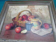 Robert Chailloux still life basket with fruits oil original signed bottom left