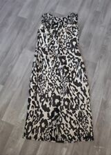 Womens LK Bennett Dress  Size 8 Animal Print Ivory/Black Silk Dress