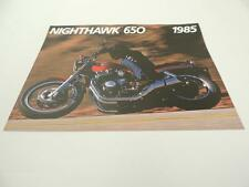 NOS 1985 Nighthawk Honda Dealer Brochure L38