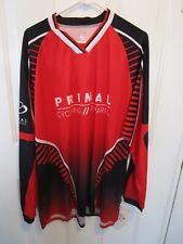 PRIMAL Mens 2XL Cycling Jersey Black/Red Primal Logo NWT