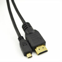 Micro HDMI to HDMI Cable Lead 1M 1080P 3D 4K for Full HD Tesco Black