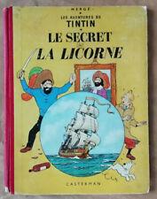 Tintin ; Le Secret de la Licorne HERGE éd Casterman rééd B24 1958