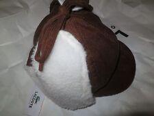 LACOSTE Boy's  Brown Winter Hat 100% Cotton, Large!