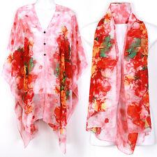 Kaftan Caftan Tunic Dress Wing Blouses Scarf Beach Cover Up Robe Flower ts29p2
