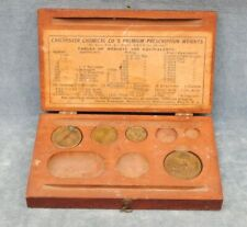 VINTAGE SCALE PRECISION PRESCRIPTION WEIGHTS BY TROEMNER FOR CHICHESTER CHEMICAL