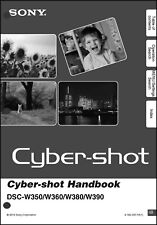 Sony DSC-W350 W360 W380 & W390 Cyber-Shot Handbook Operating Instruction Manual