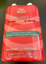 Wella Brilliance Shampoo and Conditioner Liter Duo for Coarse Colored Hair