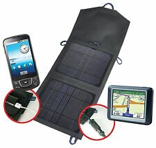7.5 Watt 12V Portable Solar Panel Laptop Cell Phone With USB and Lighter Plug