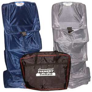 Dinsmores Duo Combo Carp & Silver Fish Commercial Fishery 2 Keepnet & Zipped Bag