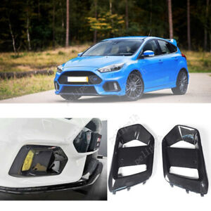 For Ford Focus RS 2016-2018 ABS Carbon Fibre Replace Front Fog Lamp Light Frame