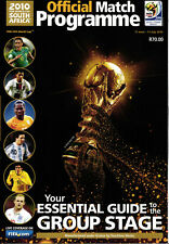 WM 2010 World Cup Official Programme - Südafrika - Group Stage