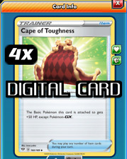 4x Cape of Toughness Pokemon TCG Online PTCGO SENT FAST 160/189 DIGITAL CARD