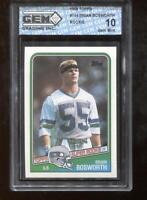 Brian Bosworth RC 1988 Topps #144 Seattle Seahawks Rookie GEM MINT 10