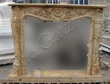 French Design Marble Fireplace Mantel, Old World Finish