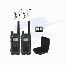 Motorola TALKABOUT T465 Two-Way Radio Walkie Talkies PTT Earpiece 2-PACK