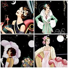 A TOUCH OF MOONLIGHT ART DECO  Embellishments (8), Card Toppers, Card Making
