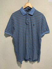 Vintage Polo Ralph Lauren Striped 2-Button Collared Shirt LARGE Short Sleeve EUC
