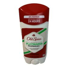 3X Old Spice Playmaker 24 Hour Antiperspirant Deodorant 3 Pack Free Shipping