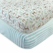 Touched By Nature Boy and Girl Organic Fitted Crib Sheets, 2-Pack, Forest