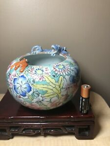 Chinese Porcelain Brush Pot With Mark
