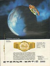 Publicité Advertising 1965  Montre ETERNA MATIC 3000