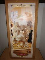 """NIB Grandeur Noel Collector's Edition 16"""" Fabric Santa in Box 2000"""