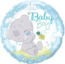 "BABY SHOWER PARTY SUPPLIES BALLOON 18"" TINY TATTY TEDDY BABY BOY FOIL BALLOON"