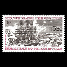 TAAF 1990 - Discovery of Adelie Land by Dumont d'Urville Ships - Sc C110 MNH